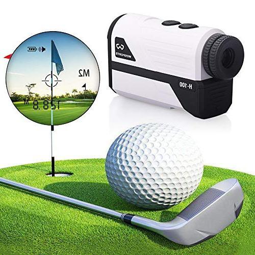 Wosports Golf Rangefinder, 700 Yards Range with Slope, Flag-Lock Distance/Speed/Angle