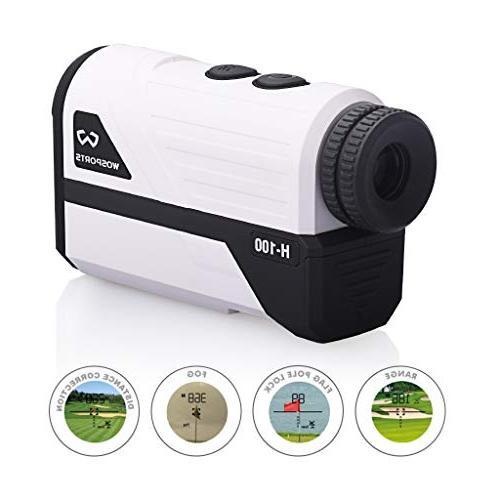 Wosports Rangefinder, Yards Laser Finder with Slope, Flag-Lock Distance/Speed/Angle