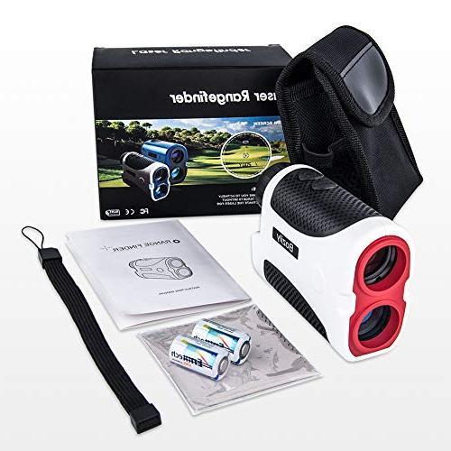 Bozily Laser Range Finder Yards, Flag-Lock, 4 Mode, & Distance, Angle & Fog Resistant - Tournament Golf Rangefinder