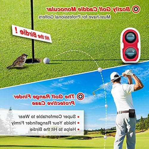Bozily Golf Rangefinder, Laser Yards, Slope 4 Scan Mode, & Distance, Angle & Fog Resistant - Tournament Legal Golf Rangefinder