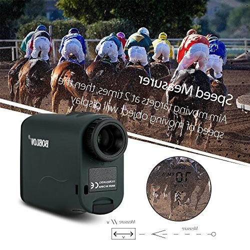 BOBLOV Golf Waterproof, Hunting Scope Binoculars with Ranging, Scan, Flagpole Lock, Fog and Speed Measurement Function USB Wireless Chargin