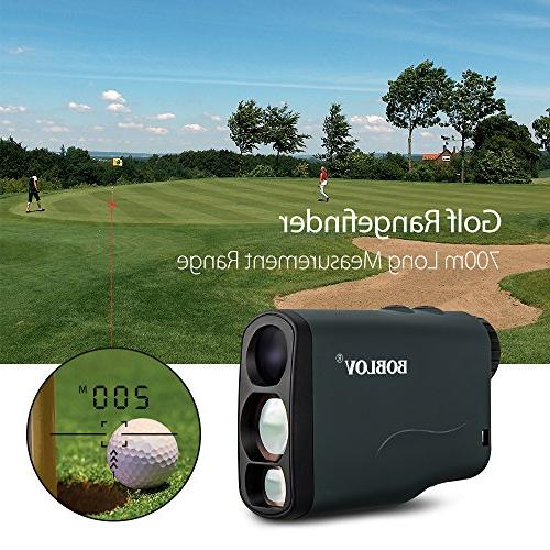 BOBLOV Golf Rangefinder Waterproof, 6X Range Hunting Scope Distance with Scan, Flagpole Lock, and Speed Function USB Chargin