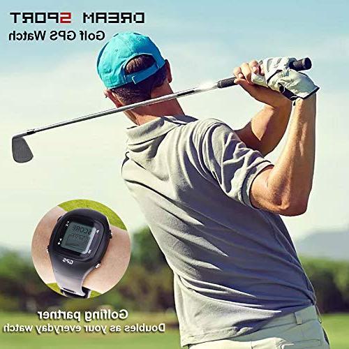 SKARLIE Watches Card Golf GPS Devices Course Rangefinder-Black