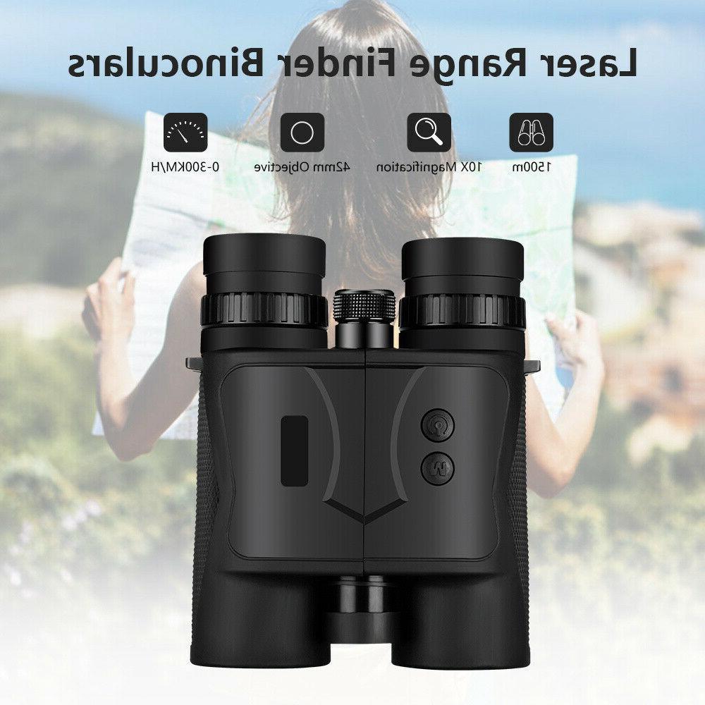 Handheld 10x42 1500M Range Finder Range Measuring