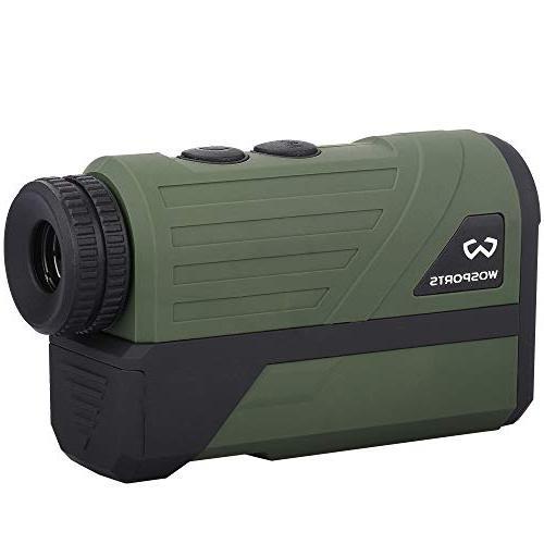 Wosports Hunting Upgraded Battery Laser Rangefinder Hunting Flagpole Lock, Speed