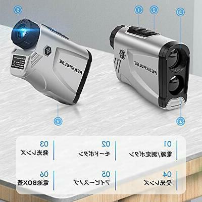 Laser golf range finder golf scope