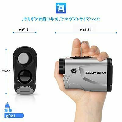 Laser finder measuring golf scope