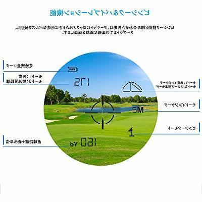 Laser range finder distance measuring golf scope gol