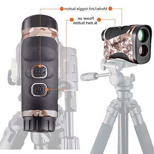 Gosky Rangefinder Range Finder with Model for Hunting, Outdoor Using