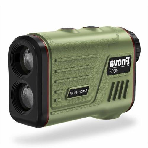 Laser Rangefinder Ranging 5-600 Yards 6X Magnification Lens