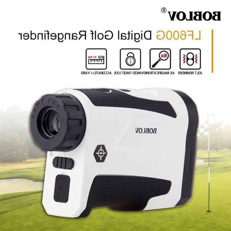 BOBLOV 6x 600M Golf Laser Range Finder Monocular With Flag-L