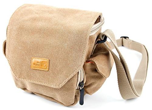 light brown canvas carry bag