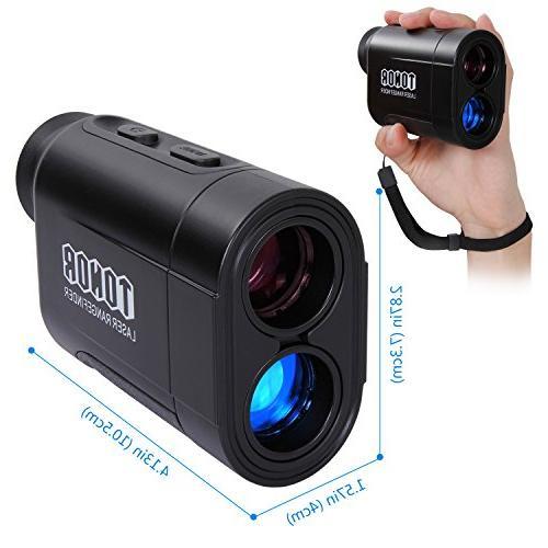 TONOR Golf Rangefinder/Range Finder Pinsensor/Binoculars, Resistant/Free Outdoor Black