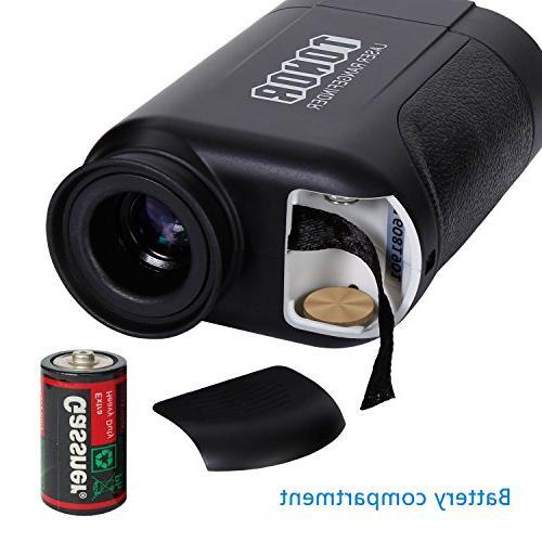 TONOR Laser Rangefinder/Range Finder with Resistant/Free Battery Outdoor Black
