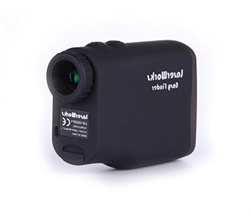 LaserWorks Laser for Hunting Golf,Fog Measurement,Waterproof Black