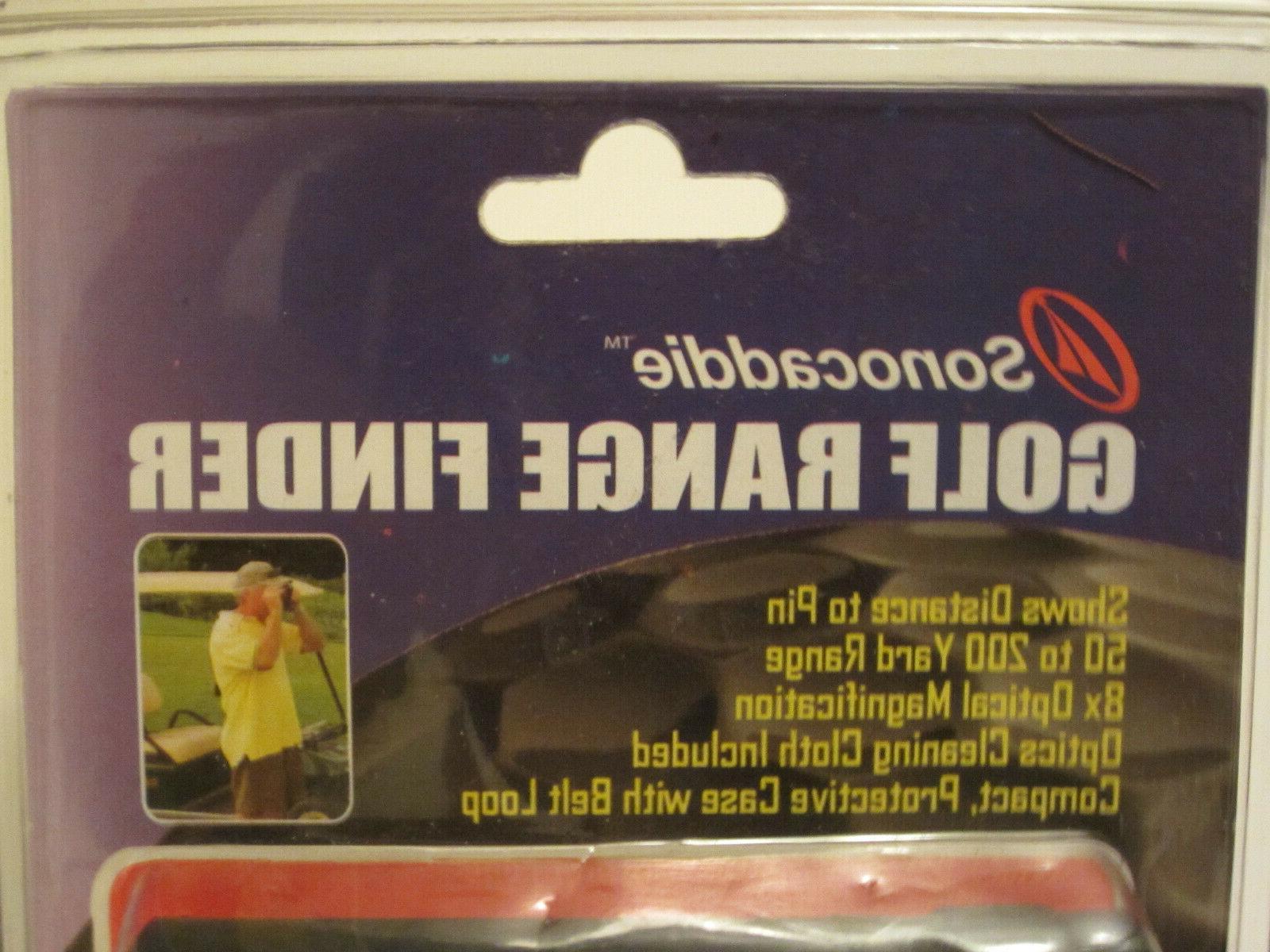 New Sonocaddie Golf Range Finder Optical Magnification 50 Yard Range
