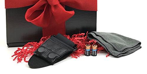 Gift Box Includes Compact Laser Rangefinder, Carry Case, Magnetic Cart Mount, PlayBetter Microfiber Towel, Two Batteries