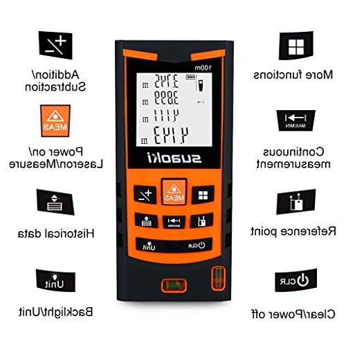 SUAOKI Distance with Bubble Mode Tape Measure
