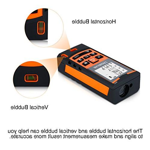 Distance Measure, Laser with Mode and Calculation Tape Measure