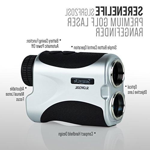 SereneLife Advanced Golf Laser Rangefinder Digital Standard
