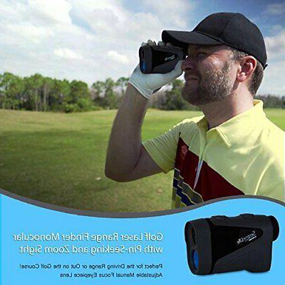 serenelife advanced golf laser rangefinder with pinsensor