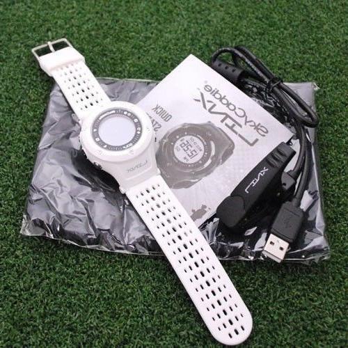skygolf linx watch white gps rangefinder golf
