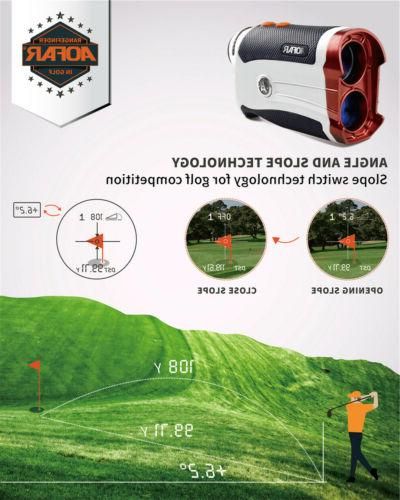 Aofar 600Yards GOLF LASER FINDER FLAG-LOCK VIBRATION PULSE