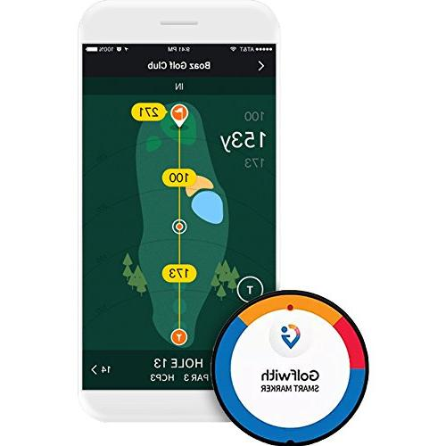 Golfwith Smart Ball Marker, Comes with Hat Custom Ball