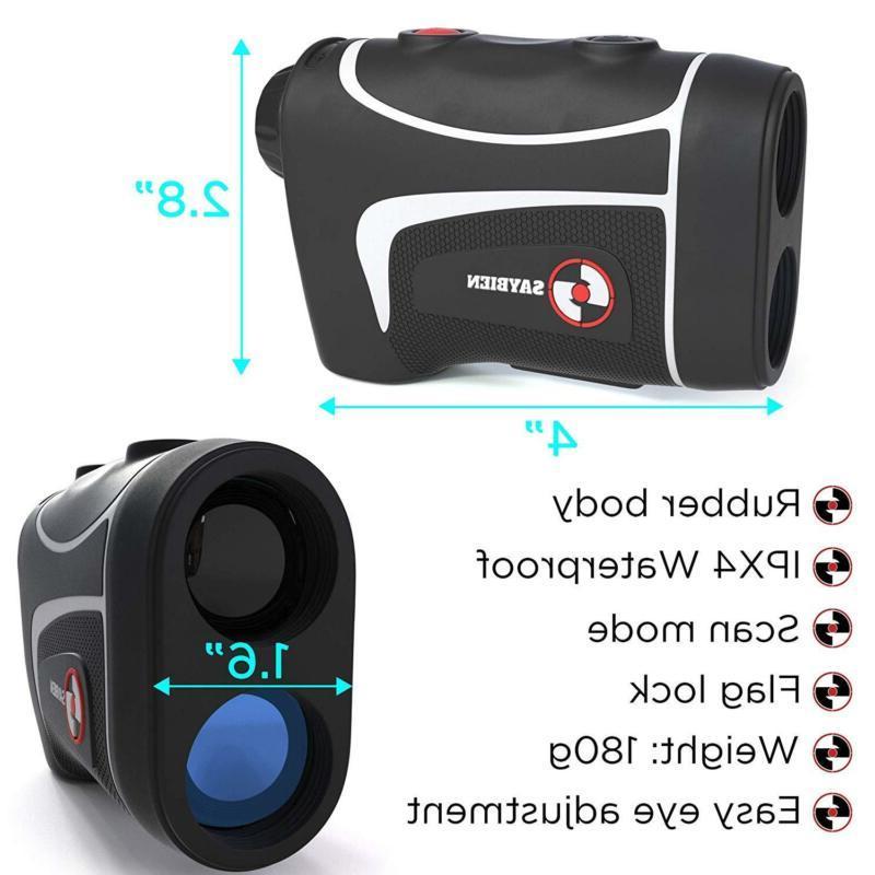 Saybien TR500 Waterproof Golf Rangefinder - Laser Finder with Flag