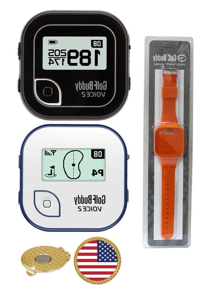 voice 2 golf gps rangefinder wrist band