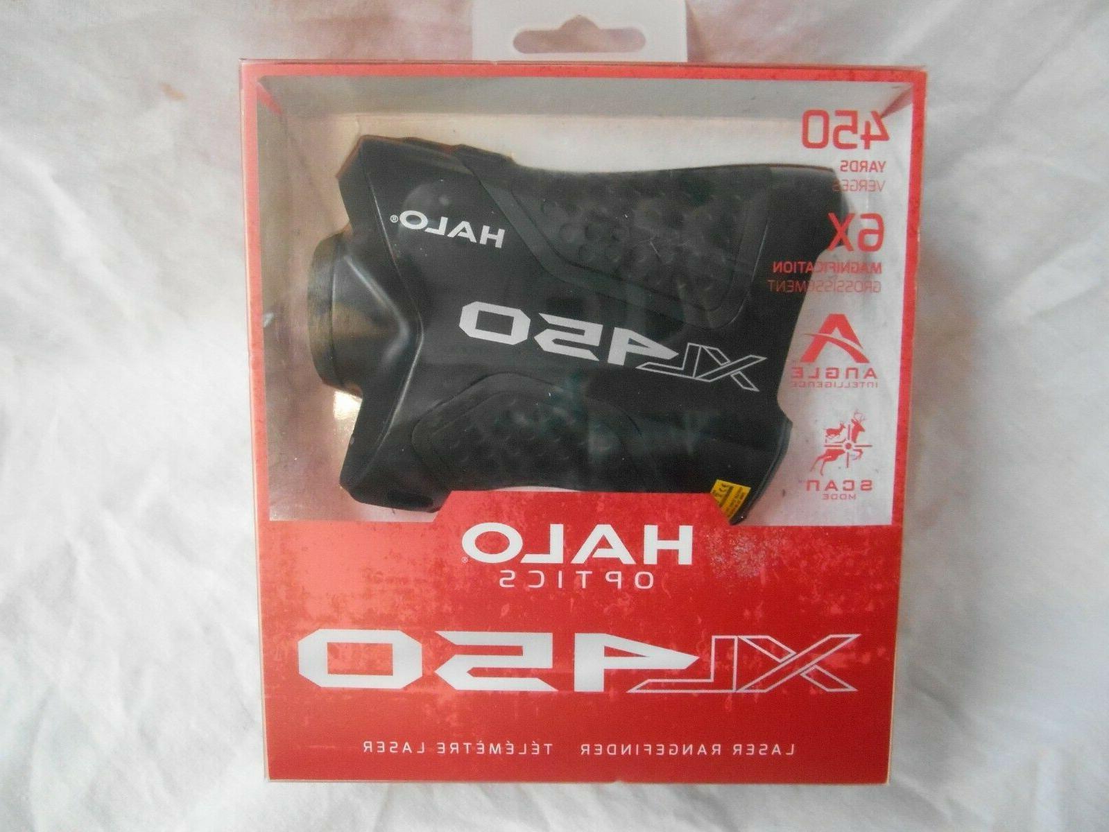 xl450 laser rangefinder 450 yards 6x magnification