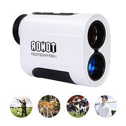 TONOR 650 Yards Laser Golf Range Finder for Hunting,White
