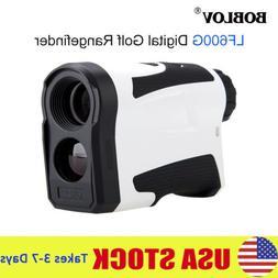600M 6X LCD Digital Golf Range Finder Speed Meter Target Loc