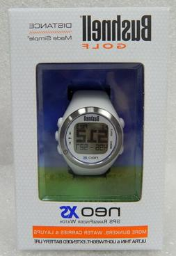 Bushnell NEO XS Golf GPS Rangefinder Watch, White/Blue