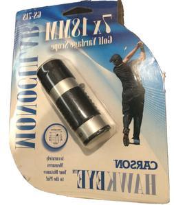 New Carson Optical HawkEye 7x18 Golf Monocular w/Rangefinder