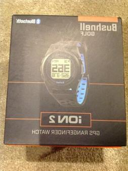 New NIB Bushnell Golf Ion 2 GPS Range Finder Watch - Black
