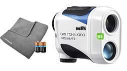 Nikon Coolshot Pro Stabilized Golf Laser Rangefinder Bundle