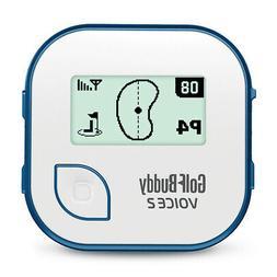 GolfBuddy Voice 2 Talking GPS Golf Rangefinder, White/Blue