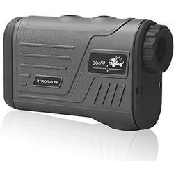 Wosports Golf Rangefinder or Hunting Range Finder with Flagp